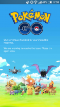 "Pokemon Go ошибка ""Our servers are humbled by your incredible response. We are working to resolve the issue."""